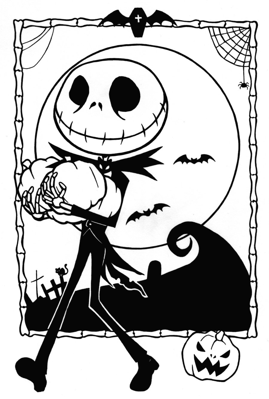 printable halloween coloring pages free printable nightmare before christmas coloring pages halloween pages coloring printable