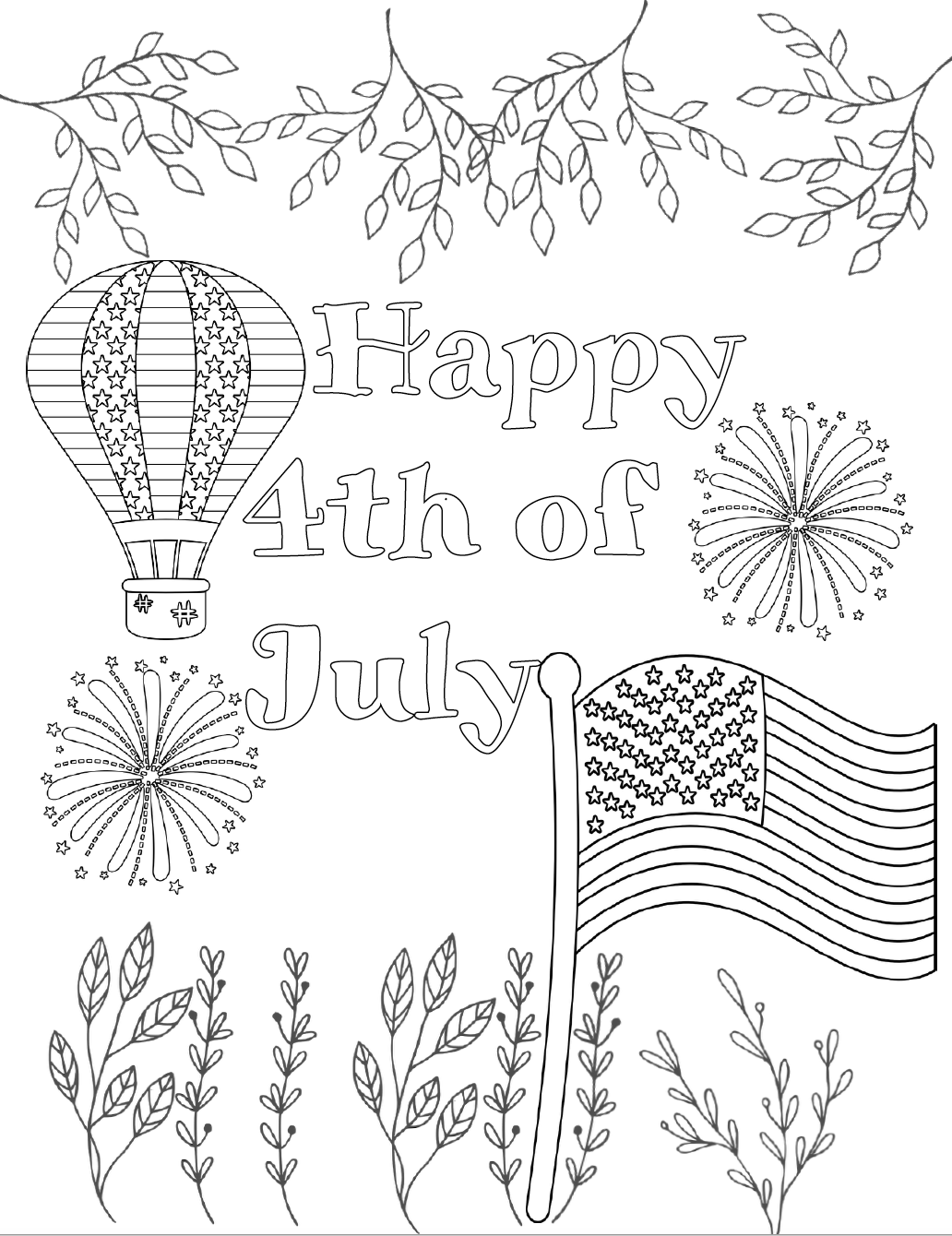 printable july coloring pages fourth of july coloring pages july printable pages coloring