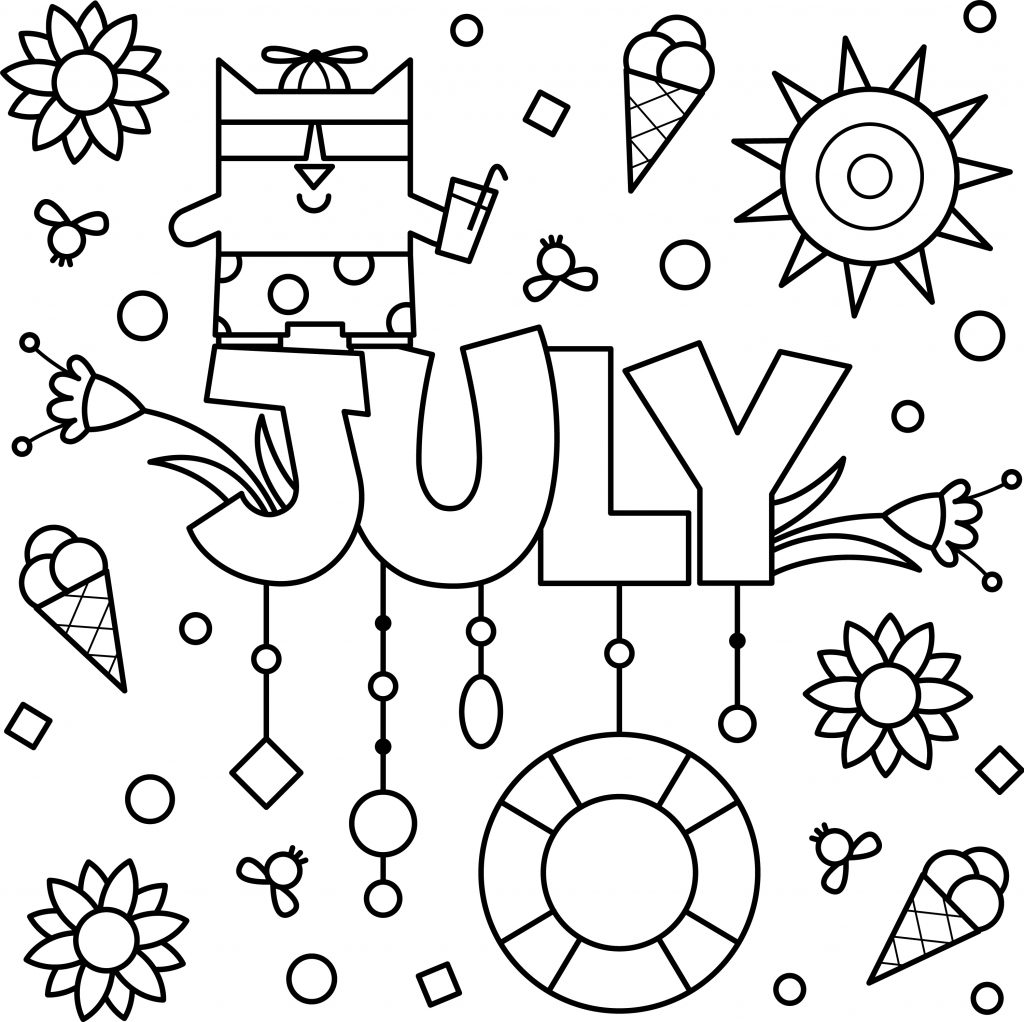 printable july coloring pages summer month july coloring sheet coloring page july coloring printable pages