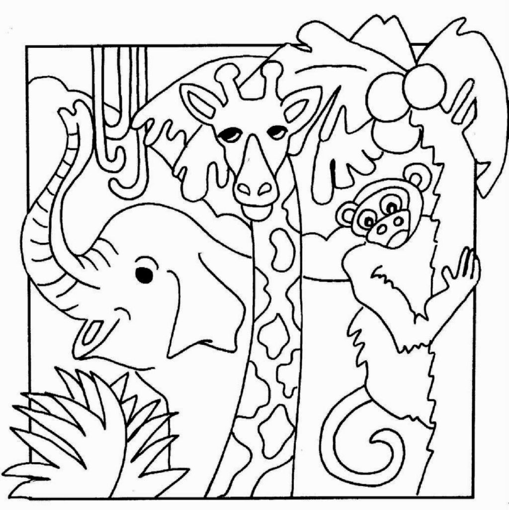 printable jungle animals coloring pages cute jungle animals coloring page jungle animals pages printable coloring
