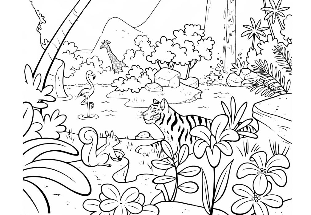 printable jungle animals coloring pages free printable jungle animal coloring pages zoo coloring coloring pages jungle printable animals