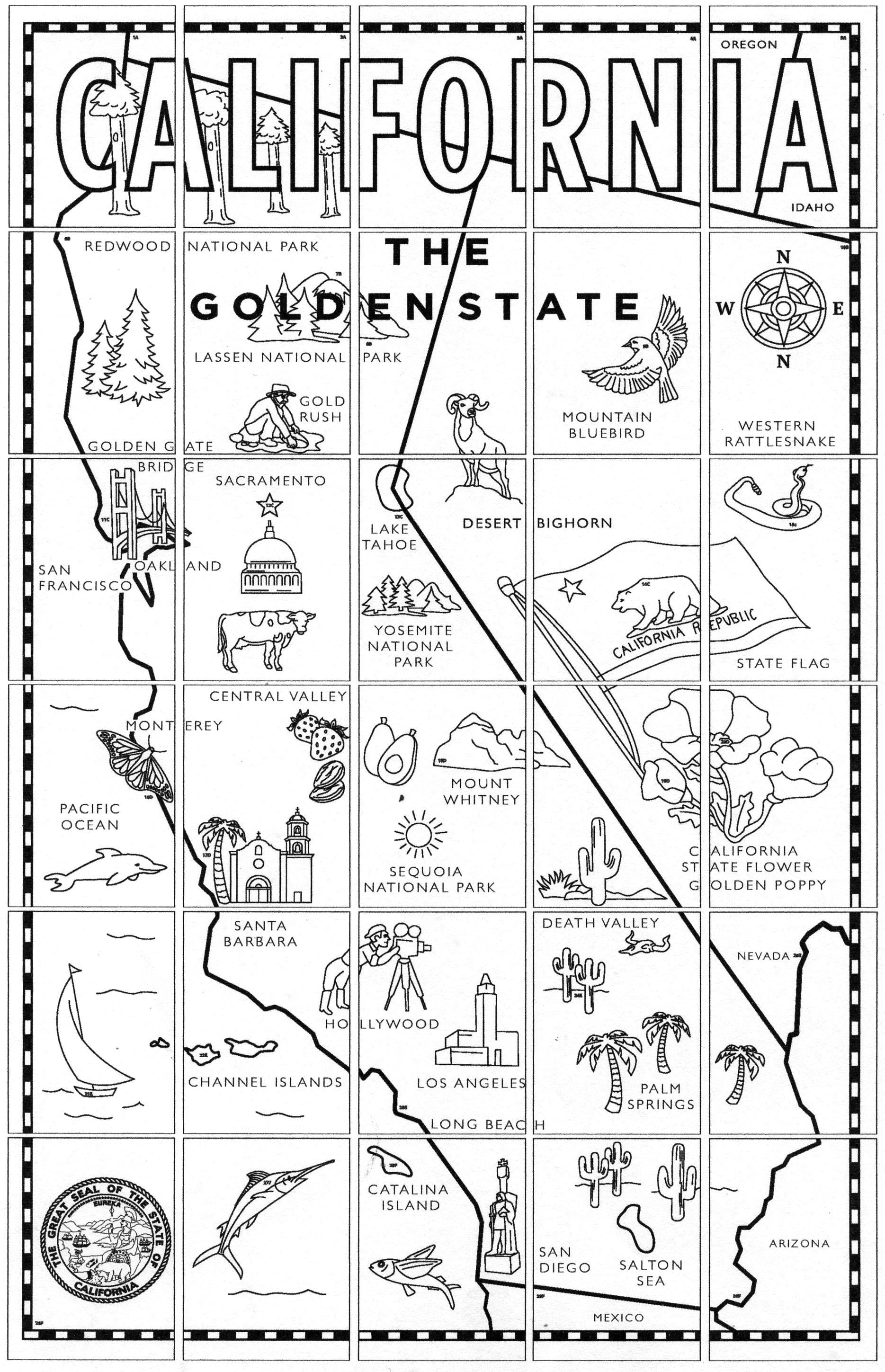 printable map of california for kids california map counties coloring page print color fun for printable of map california kids