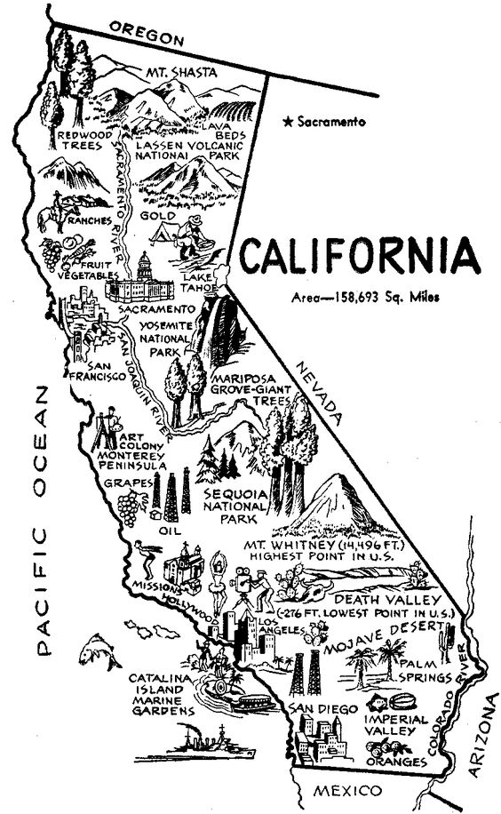 printable map of california for kids pin by jan bruell on palm springs flag coloring pages of printable map california for kids
