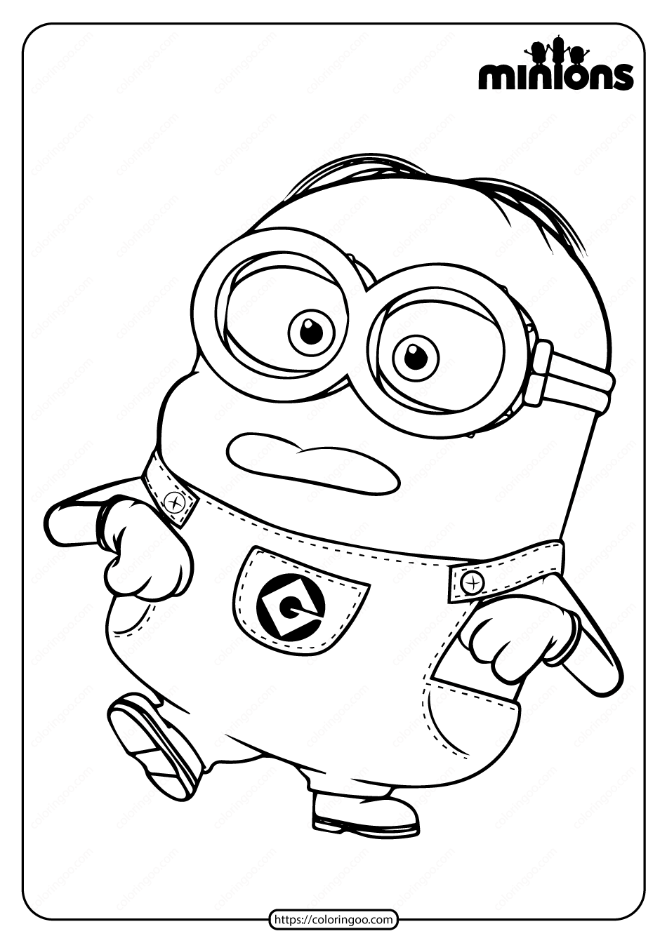 printable minions minion coloring pages bob all versions and poses printable minions