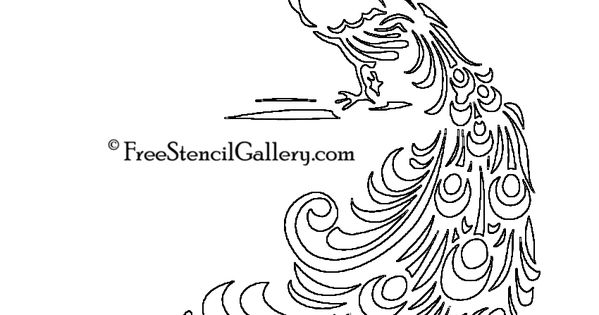 printable peacock stencil peacock stencil design art nouveau design and printable peacock stencil