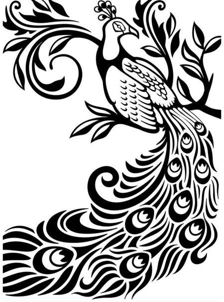 printable peacock stencil pin on peacock inspiration peacock printable stencil