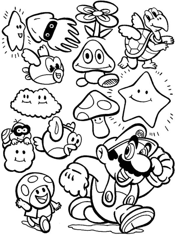 printable pictures of mario characters mario character coloring pages coloring home mario of printable pictures characters