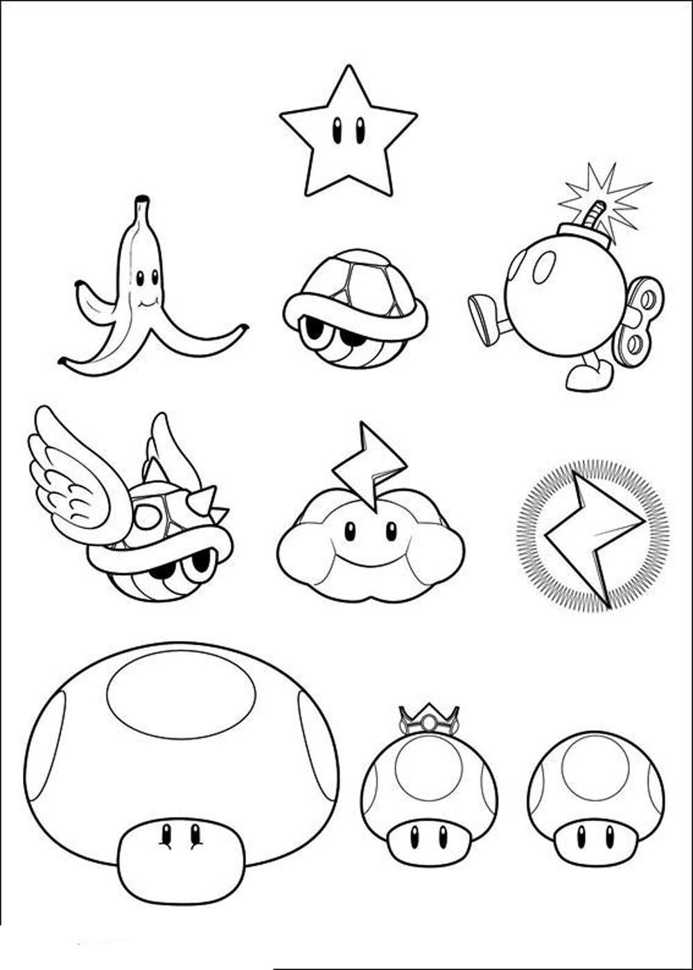 printable pictures of mario characters super mario bros characters coloring pages coloring home mario of pictures characters printable
