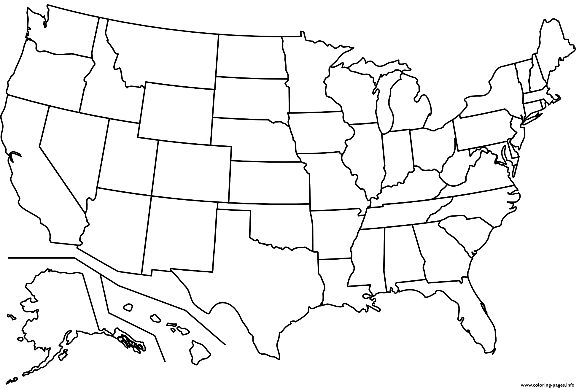 printable us map coloring page blank us map dr odd geography map outline state printable page us coloring map