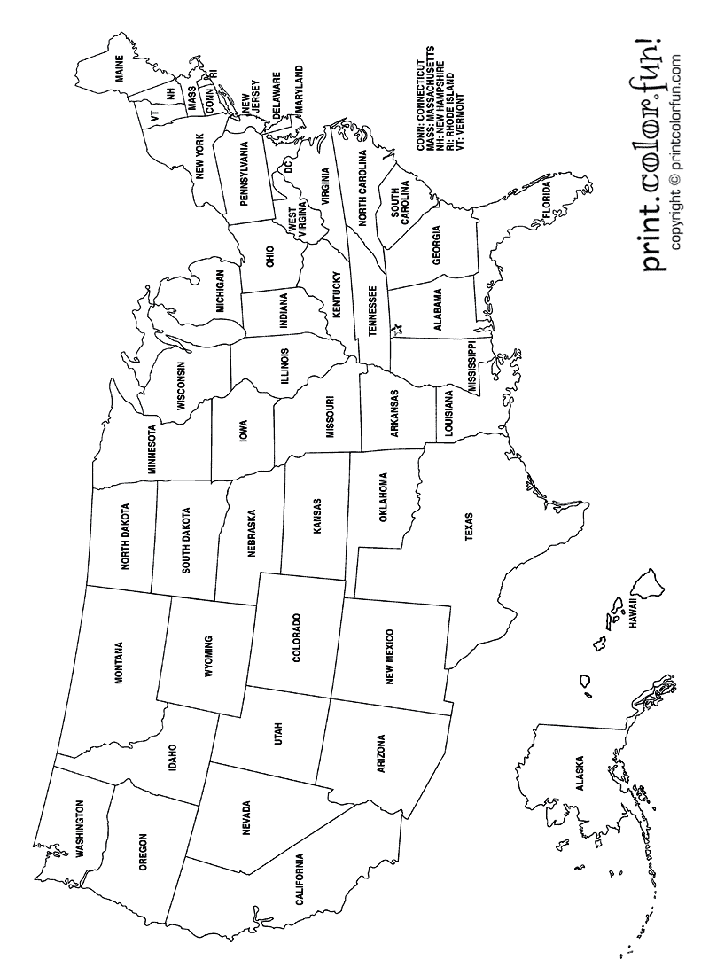 printable us map coloring page download and print your page here us map printable map coloring printable page us