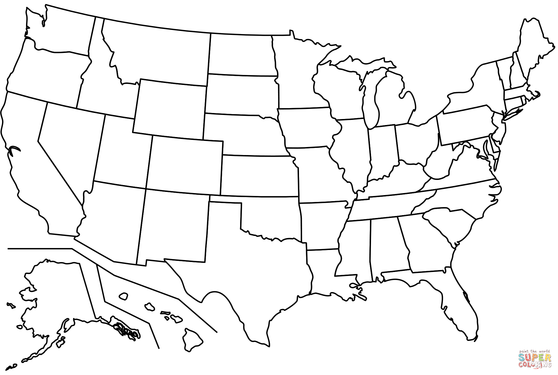 printable us map coloring page outline map of us states coloring page free printable map us page printable coloring