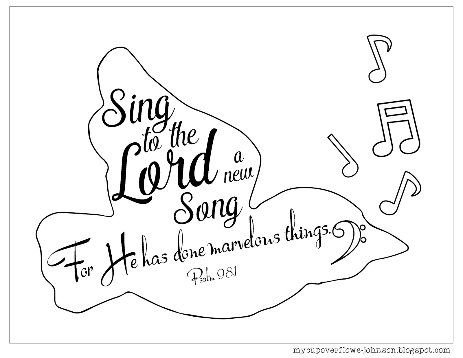 psalm 98 coloring page ordinary 33c bulletin cover psalm 98 stushie art psalm coloring 98 page