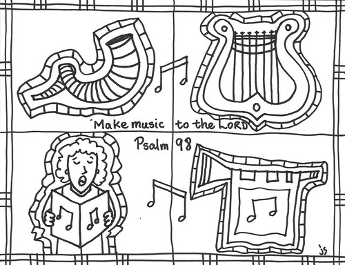 psalm 98 coloring page stushie page 2 stushie art page 98 coloring psalm