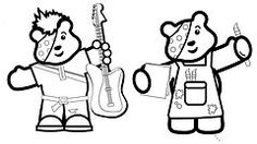 pudsey colouring pages pudsey children in need ideas on pinterest bear colouring pudsey pages