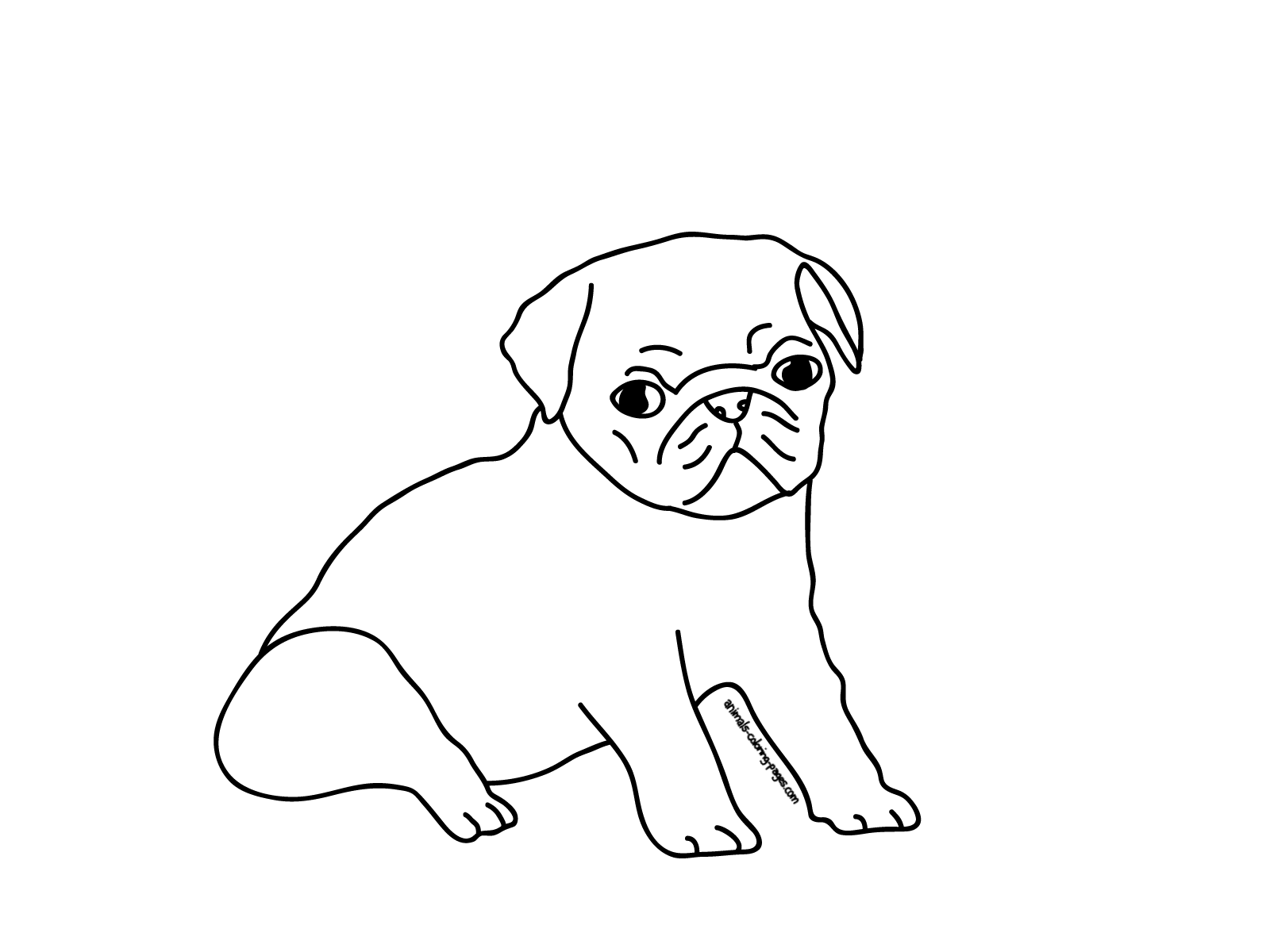 pug puppy coloring pages printable pug coloring pages coloring home pug puppy coloring pages