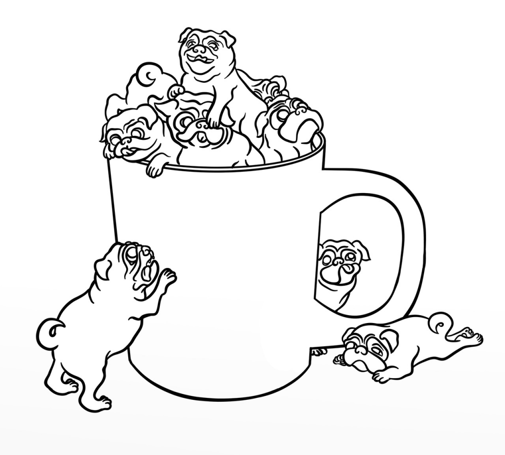pug puppy coloring pages pug coloring pages best coloring pages for kids coloring pug puppy pages
