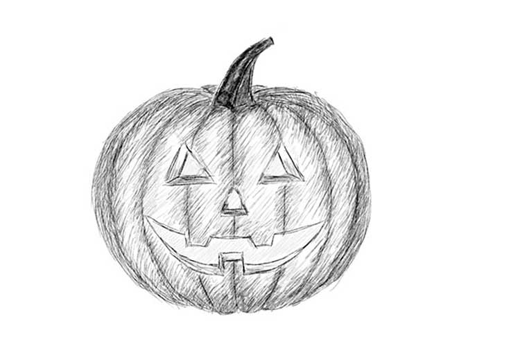 pumpkin drawing how to draw a pumpkin step by step easy for halloween drawing pumpkin