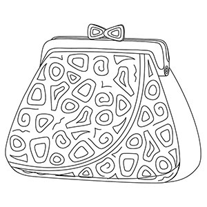 purse coloring page drawing purse coloring purse handbag drawing page coloring purse
