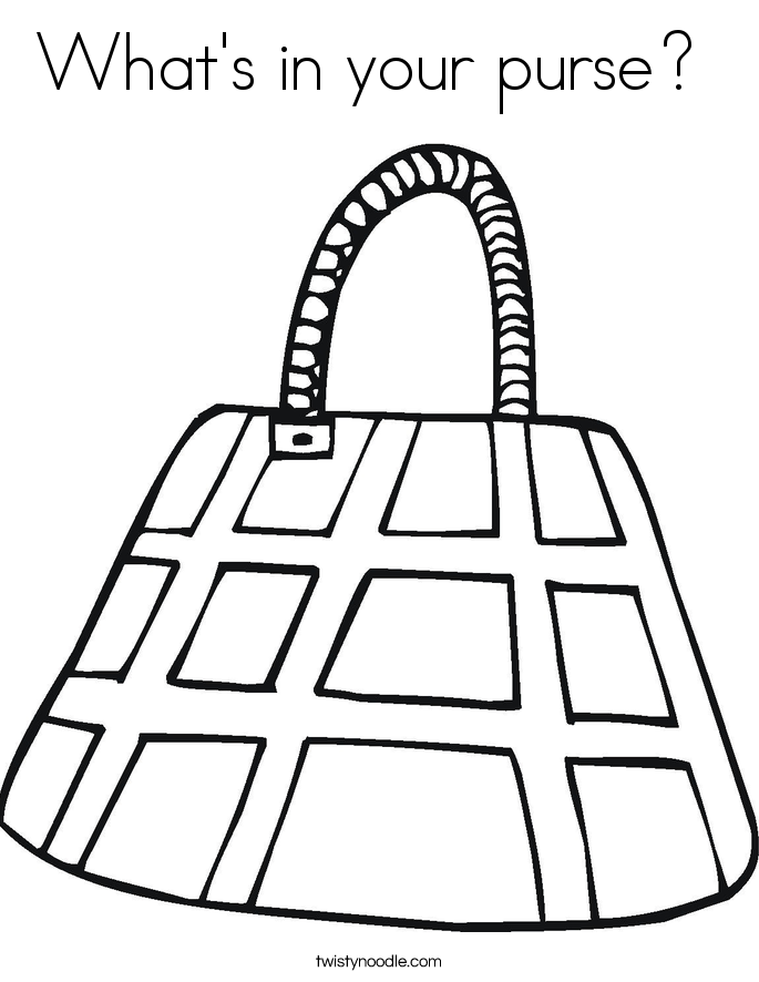 purse coloring page free printable coloring pages for girls purse page coloring
