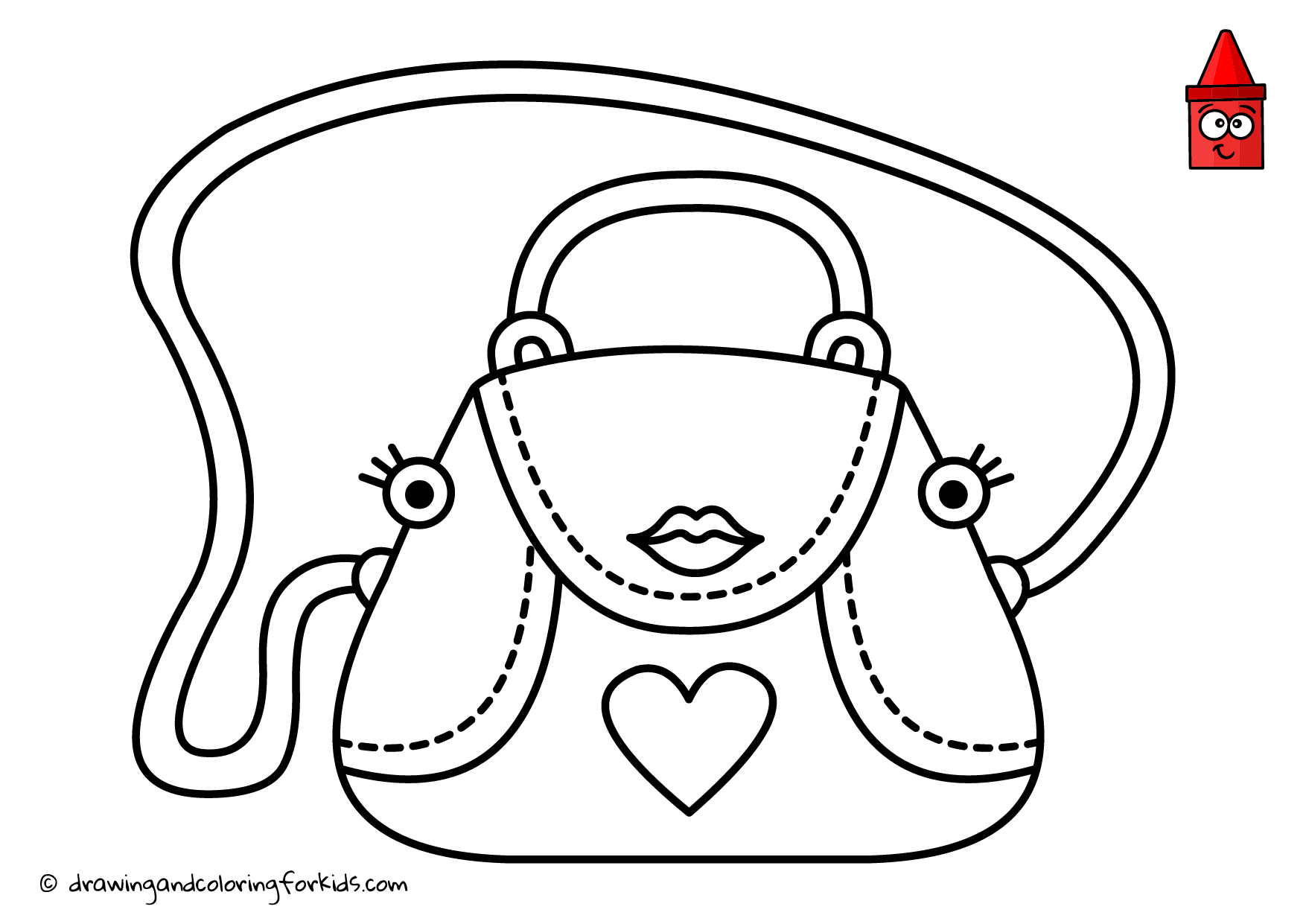 purse coloring page pretty fashion bag coloring page for girls printable free purse coloring page