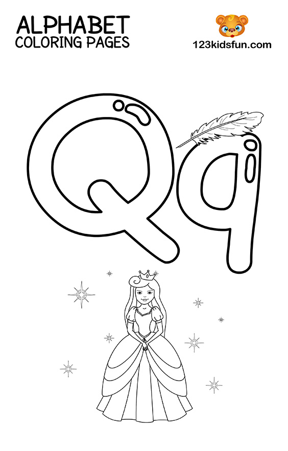 q is for queen coloring page alphabet coloring pages letters k t page for queen is q coloring