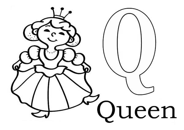 q is for queen coloring page letter a coloring pages printable di 2020 q for queen is coloring page