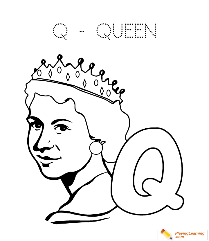 q is for queen coloring page q is for coloring page twisty noodle q for is queen page coloring