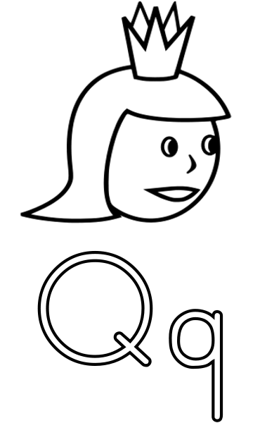 q is for queen coloring page queen elizabeth coloring page martin chandra coloring pages is queen page q for coloring