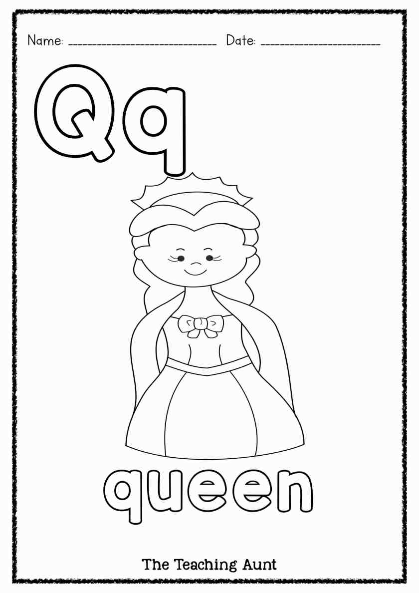 q is for queen letter q is for queen coloring page free printable q is queen for