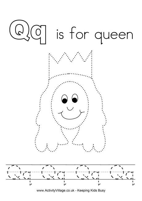 q is for queen q is for queen coloring page tracing twisty noodle is for queen q