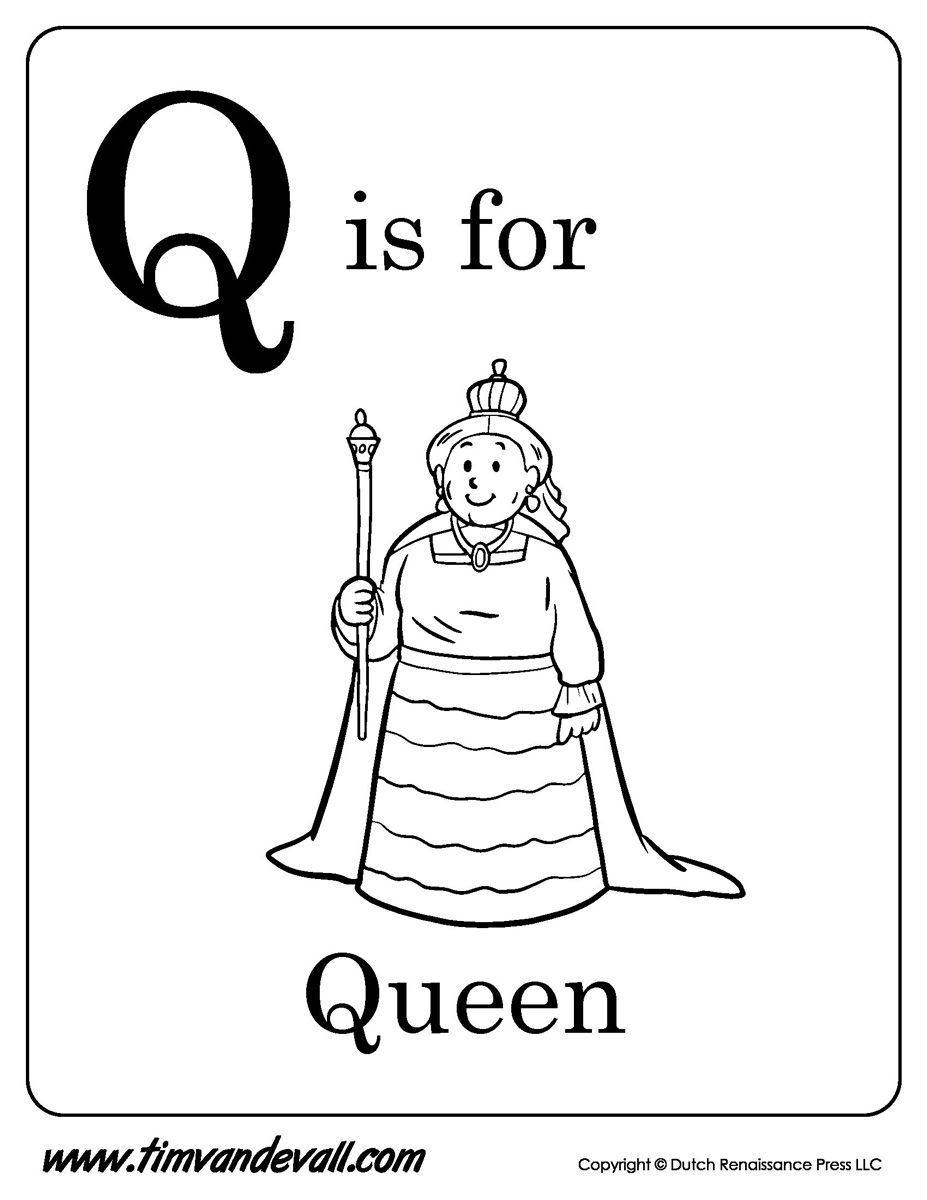 q is for queen q is for queen coloring page twisty noodle is for queen q