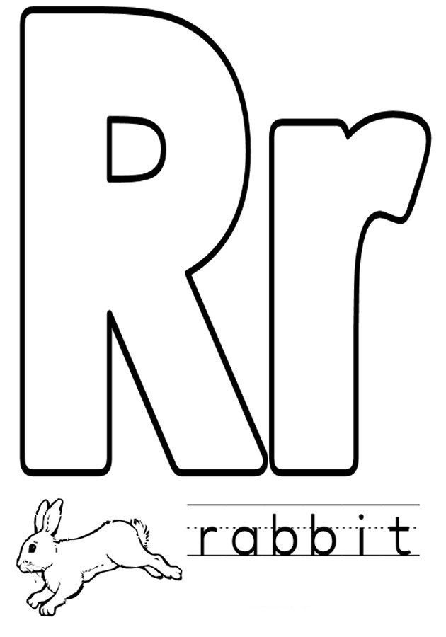 r coloring pictures alphabet coloring pages r pictures coloring
