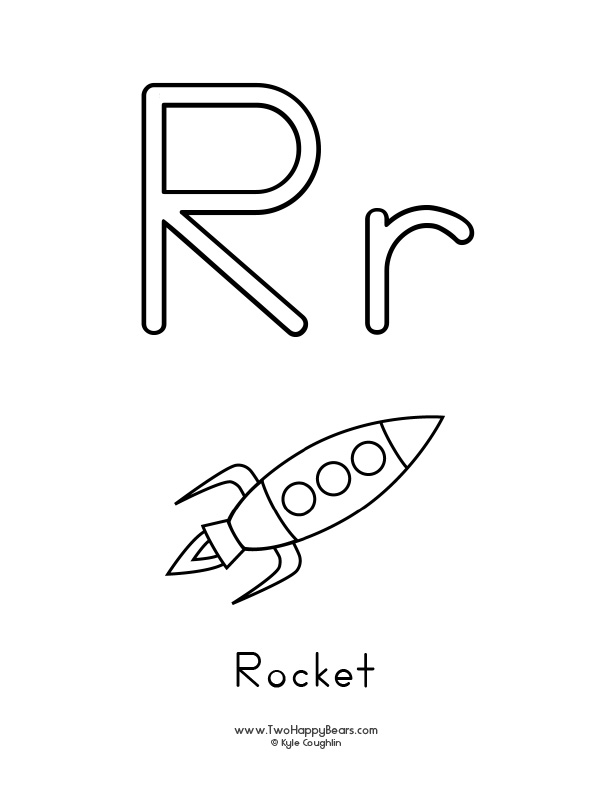 r is for rocket coloring page learn the letter r with fluffy and ivy for coloring is page r rocket