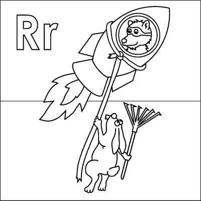 r is for rocket coloring page letter r coloring page rocket raccoon rabbit rope rocket page coloring is r for