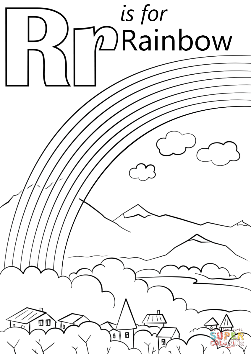 r is for rocket coloring page letter r is for rainbow super coloring alphabet coloring r page is rocket for