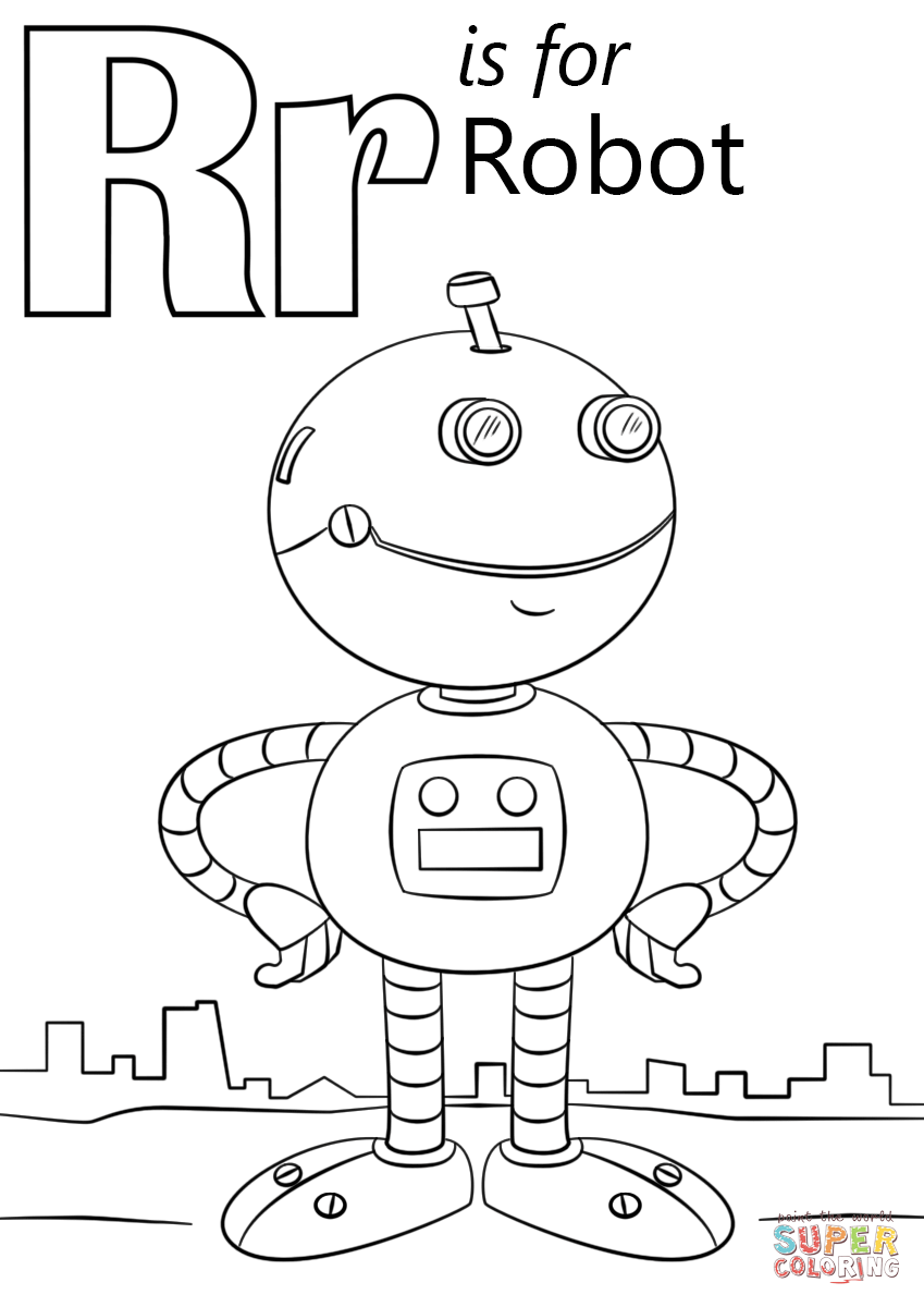 r is for rocket coloring page letter r is for robot coloring page free printable is rocket r for coloring page