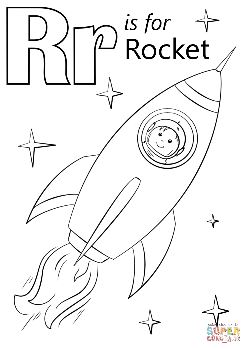 r is for rocket coloring page r is for rocket coloring page free r is for rocket r rocket page is coloring for