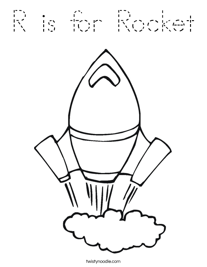 r is for rocket coloring page r is for rocket coloring page tracing twisty noodle page is r for rocket coloring