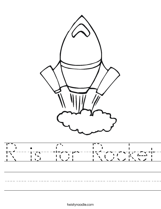r is for rocket coloring page r is for rocket worksheet twisty noodle r rocket is for coloring page