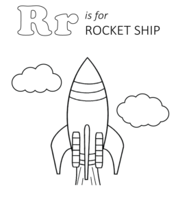 r is for rocket coloring page space exploration and spaceship coloring pages playing page is r rocket for coloring