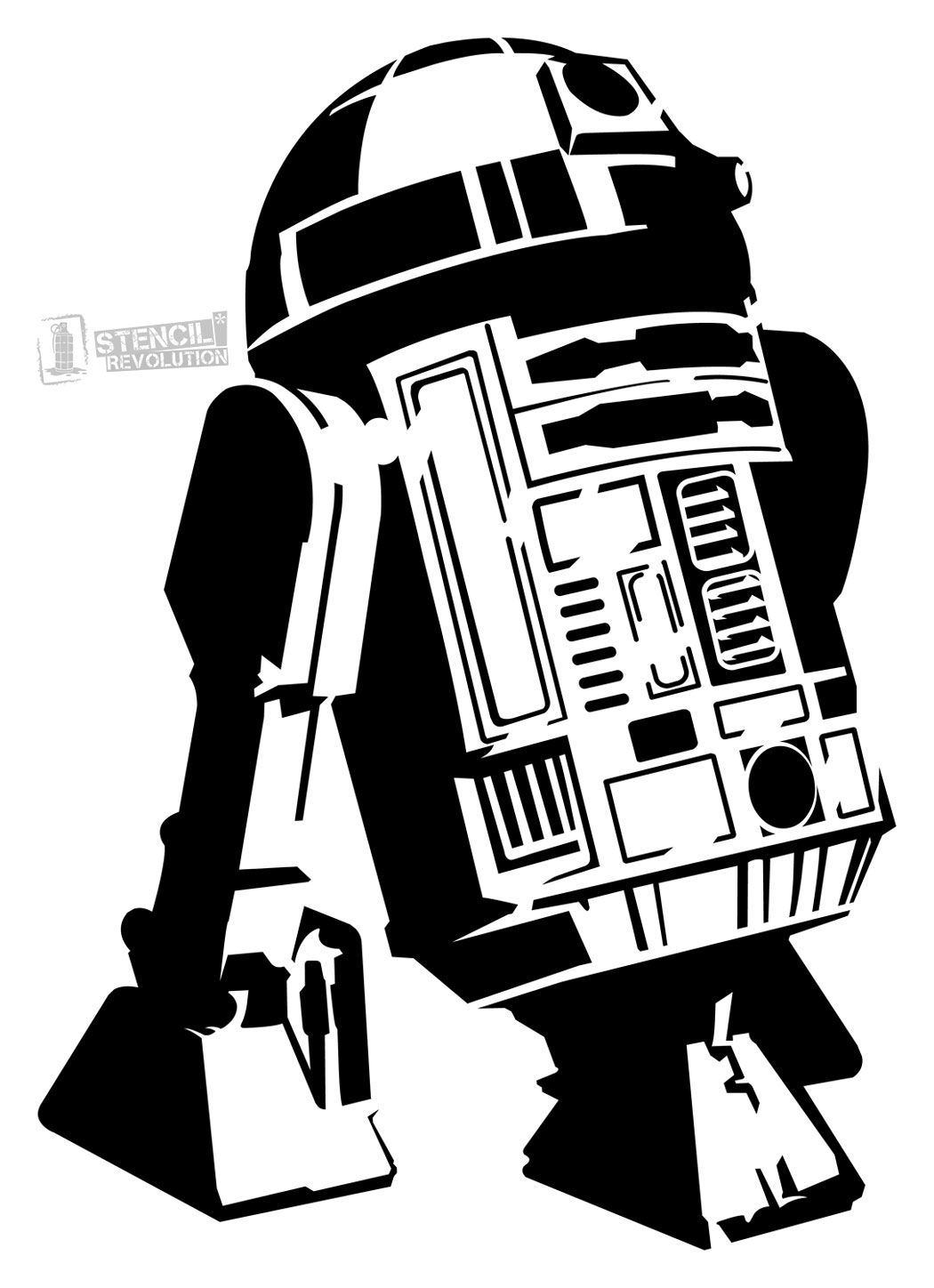 r2d2 printable download your free r2d2 stencil here save time and start printable r2d2
