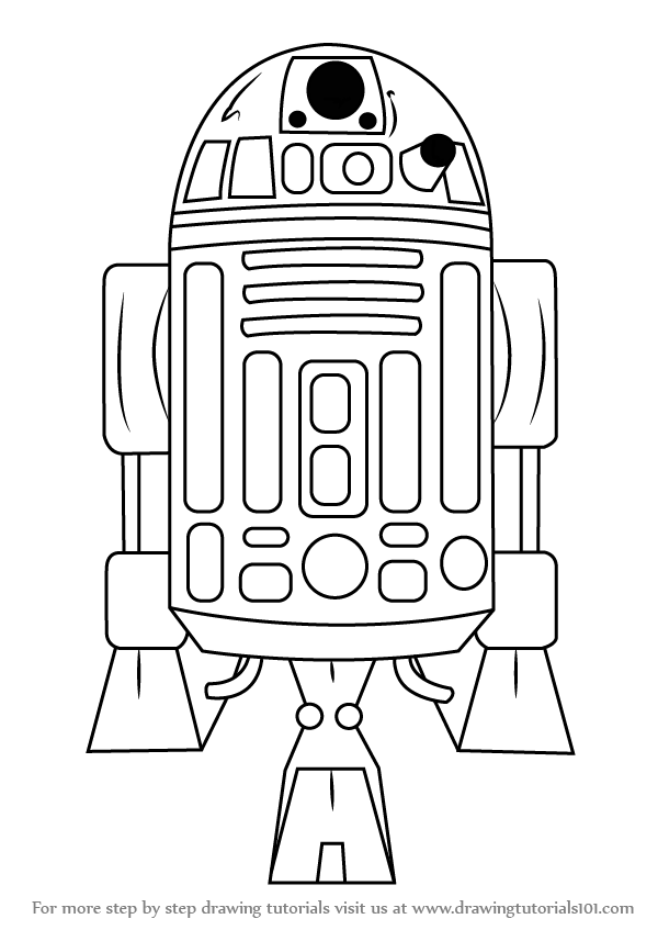 r2d2 printable learn how to draw r2 d2 from star wars star wars step by r2d2 printable