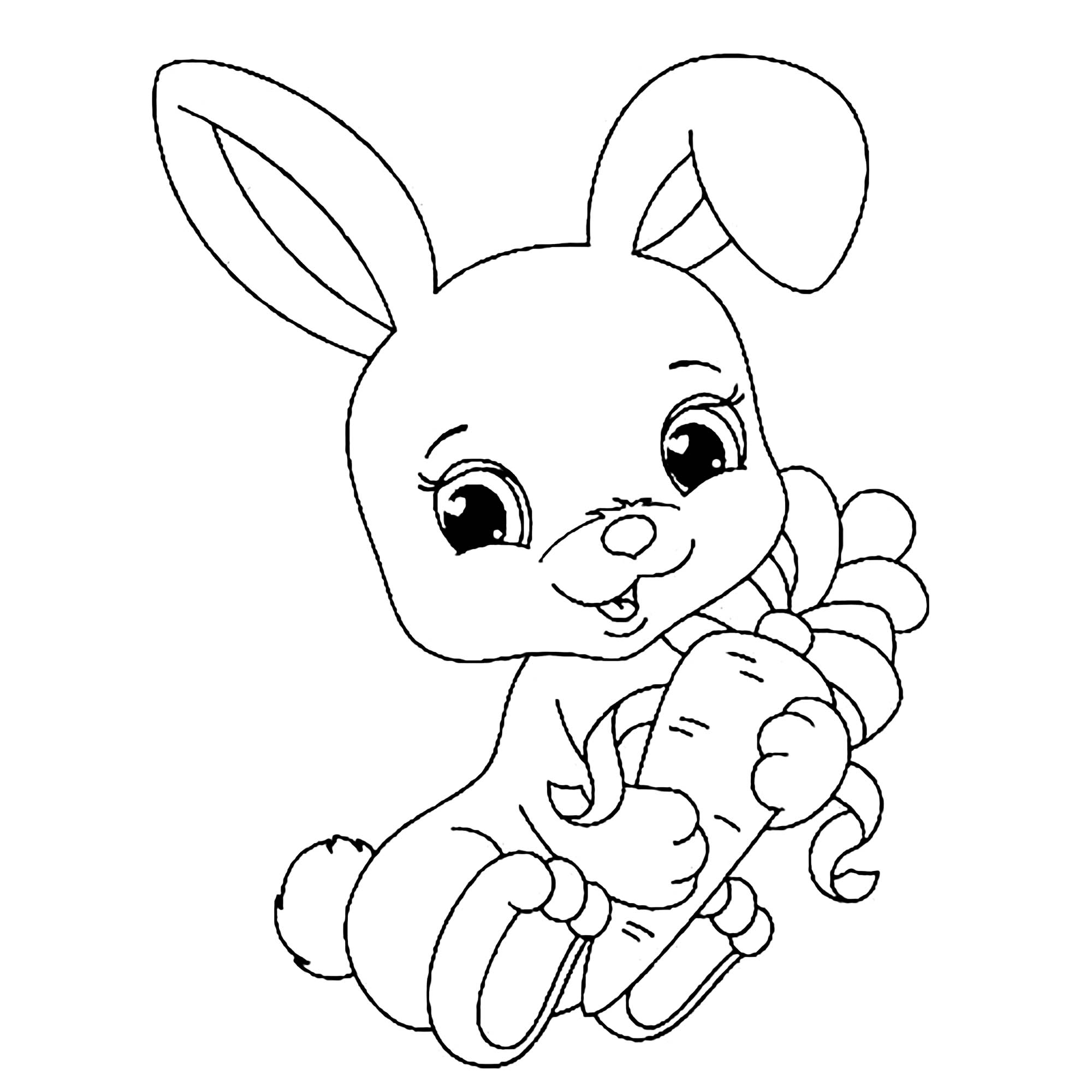 rabbit images for colouring rabbit coloring pages free download on clipartmag for images rabbit colouring