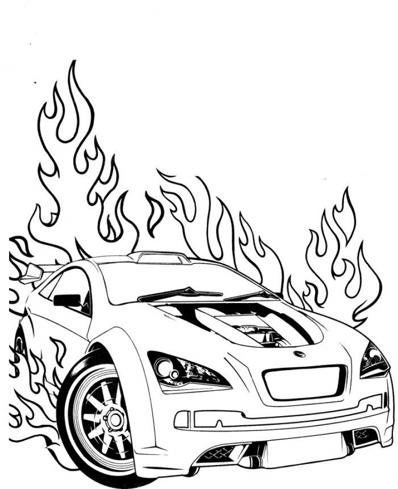 racing car pictures to colour in car with spoiler coloring page coloring home racing in to colour pictures car