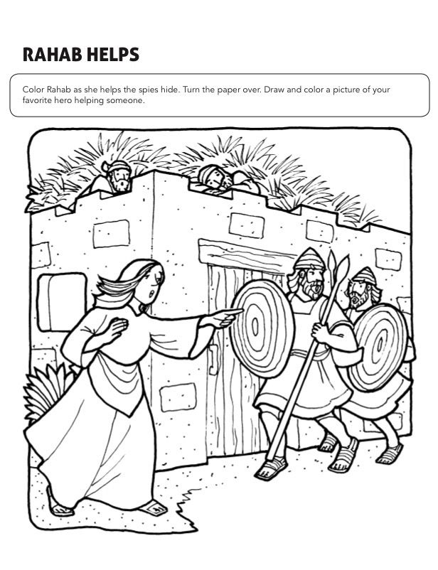 rahab coloring page rahab and the spies coloring page coloring home page coloring rahab