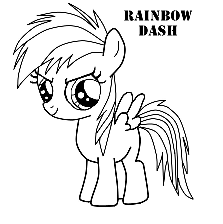 rainbow dash coloring pictures rainbow dash my little pony coloring page for kids for rainbow coloring pictures dash