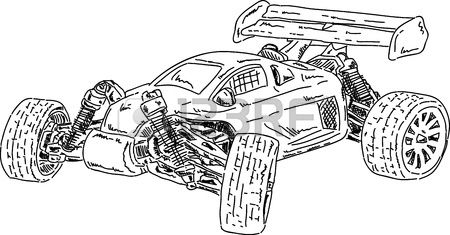 rc car coloring pages vector hand draw rc buggy car stock vector colourbox coloring car pages rc
