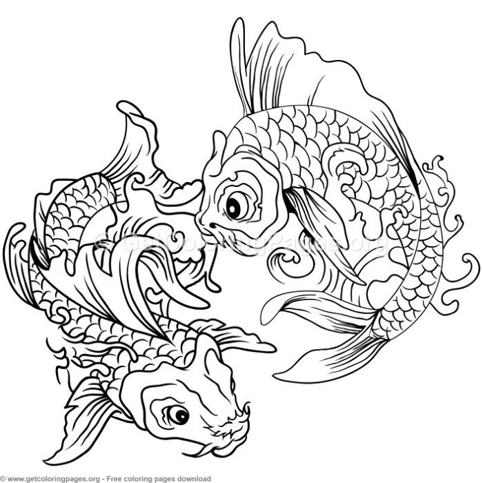 realistic koi fish coloring page koi fish coloring pages to download and print for free fish koi coloring page realistic