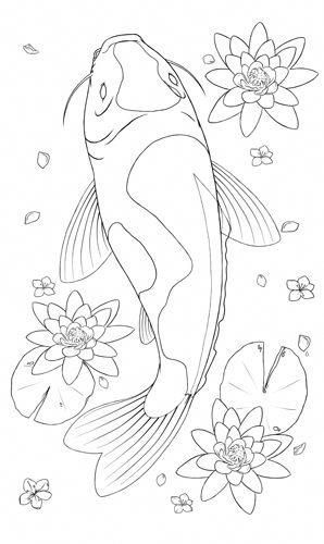 realistic koi fish coloring page koi fish coloring pages to download and print for free fish koi realistic page coloring