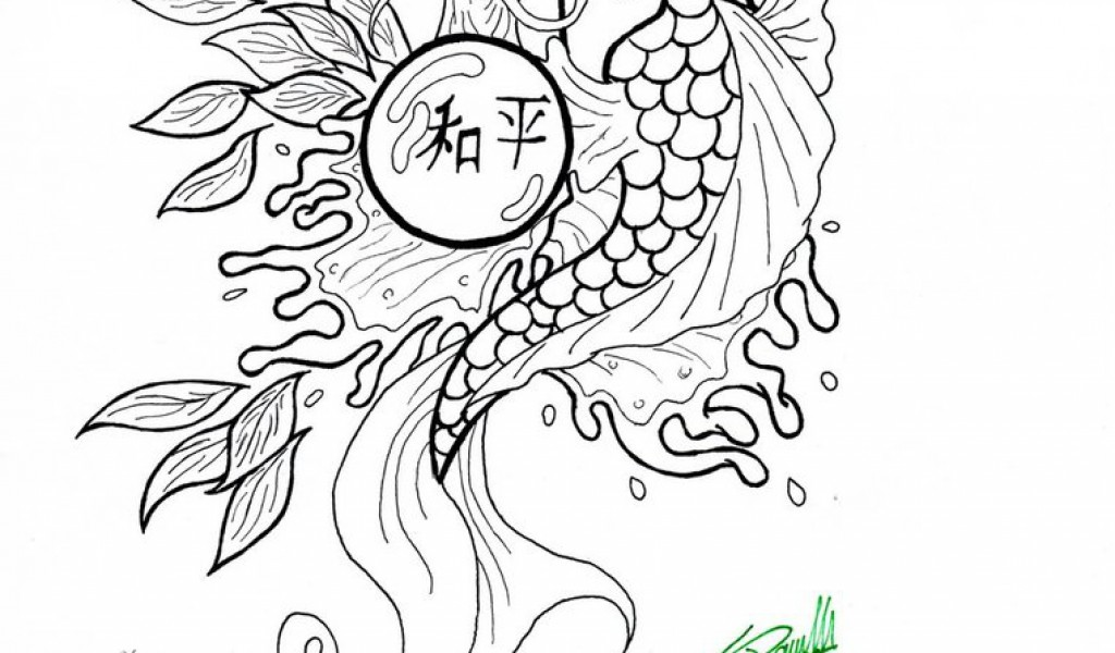 realistic koi fish coloring page koi fish coloring pages to download and print for free page fish koi coloring realistic